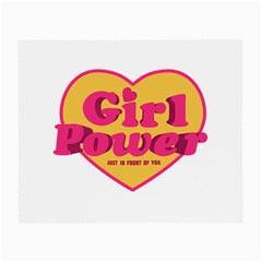Girl Power Heart Shaped Typographic Design Quote Glasses Cloth (small, Two Sided) by dflcprints