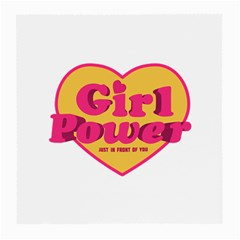 Girl Power Heart Shaped Typographic Design Quote Glasses Cloth (medium, Two Sided) by dflcprints