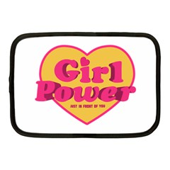 Girl Power Heart Shaped Typographic Design Quote Netbook Sleeve (medium) by dflcprints