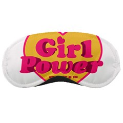 Girl Power Heart Shaped Typographic Design Quote Sleeping Mask by dflcprints