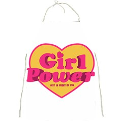 Girl Power Heart Shaped Typographic Design Quote Apron by dflcprints