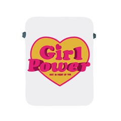 Girl Power Heart Shaped Typographic Design Quote Apple Ipad Protective Sleeve by dflcprints