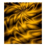 Golden Swirl Shower Curtain 66  x 72  (Large)