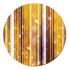 Luxury Party Dreams Futuristic Abstract Design Magnet 5  (round) by dflcprints
