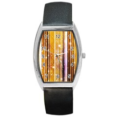 Luxury Party Dreams Futuristic Abstract Design Tonneau Leather Watch by dflcprints
