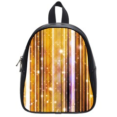 Luxury Party Dreams Futuristic Abstract Design School Bag (small) by dflcprints
