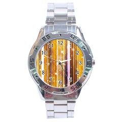 Luxury Party Dreams Futuristic Abstract Design Stainless Steel Watch by dflcprints
