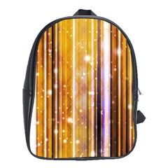 Luxury Party Dreams Futuristic Abstract Design School Bag (xl) by dflcprints