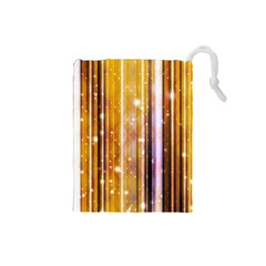 Luxury Party Dreams Futuristic Abstract Design Drawstring Pouch (small) by dflcprints
