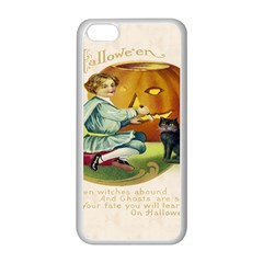 Vintage Halloween Postcard Apple iPhone 5C Seamless Case (White) by EndlessVintage
