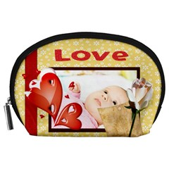 Love By Wood Johnson   Accessory Pouch (large)   5c1b49k84jc9   Www Artscow Com Front