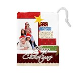 Merry Christmas - Drawstring Pouch (Large)