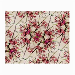 Red Deco Geometric Nature Collage Floral Motif Glasses Cloth (Small)
