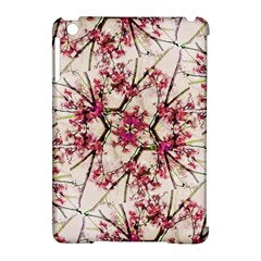 Red Deco Geometric Nature Collage Floral Motif Apple Ipad Mini Hardshell Case (compatible With Smart Cover) by dflcprints