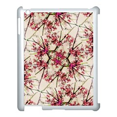 Red Deco Geometric Nature Collage Floral Motif Apple Ipad 3/4 Case (white) by dflcprints