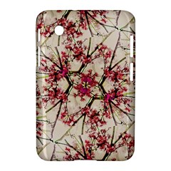 Red Deco Geometric Nature Collage Floral Motif Samsung Galaxy Tab 2 (7 ) P3100 Hardshell Case  by dflcprints