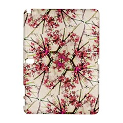 Red Deco Geometric Nature Collage Floral Motif Samsung Galaxy Note 10 1 (p600) Hardshell Case by dflcprints