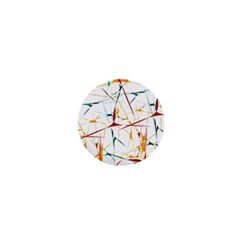 Colorful Splatter Abstract Shapes 1  Mini Button by dflcprints