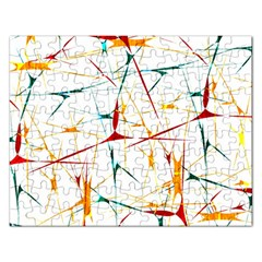 Colorful Splatter Abstract Shapes Jigsaw Puzzle (rectangle) by dflcprints