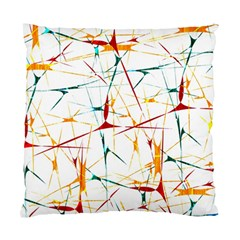 Colorful Splatter Abstract Shapes Cushion Case (single Sided)  by dflcprints