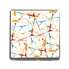 Colorful Splatter Abstract Shapes Memory Card Reader With Storage (square) by dflcprints