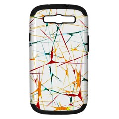 Colorful Splatter Abstract Shapes Samsung Galaxy S Iii Hardshell Case (pc+silicone) by dflcprints