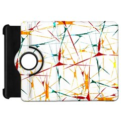 Colorful Splatter Abstract Shapes Kindle Fire Hd 7  (1st Gen) Flip 360 Case by dflcprints