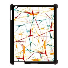 Colorful Splatter Abstract Shapes Apple Ipad 3/4 Case (black) by dflcprints