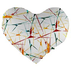 Colorful Splatter Abstract Shapes 19  Premium Heart Shape Cushion by dflcprints