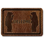 Leather-Look Black Bear Large Doormat