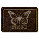 Leather-Look Butterfly Large Doormat