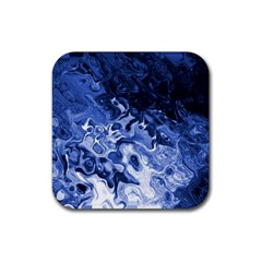 Blue Waves Abstract Art Drink Coasters 4 Pack (square) by LokisStuffnMore
