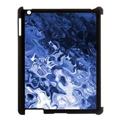 Blue Waves Abstract Art Apple Ipad 3/4 Case (black) by LokisStuffnMore