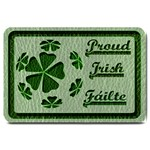 Leather-Look Irish Clover Ball Large Doormat