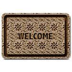 Leather-Look Ornament Large Doormat