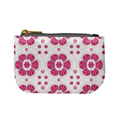 Sweety Pink Floral Pattern Coin Change Purse by dflcprints