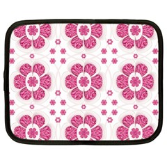 Sweety Pink Floral Pattern Netbook Sleeve (xl) by dflcprints