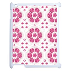 Sweety Pink Floral Pattern Apple iPad 2 Case (White) by dflcprints