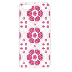 Sweety Pink Floral Pattern Apple Iphone 5 Seamless Case (white) by dflcprints