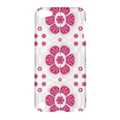 Sweety Pink Floral Pattern Apple Ipod Touch 5 Hardshell Case by dflcprints