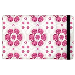 Sweety Pink Floral Pattern Apple Ipad 2 Flip Case by dflcprints