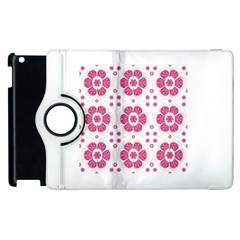 Sweety Pink Floral Pattern Apple Ipad 2 Flip 360 Case by dflcprints