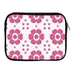 Sweety Pink Floral Pattern Apple Ipad Zippered Sleeve by dflcprints