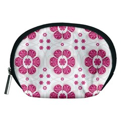 Sweety Pink Floral Pattern Accessory Pouch (medium) by dflcprints