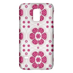 Sweety Pink Floral Pattern Samsung Galaxy S5 Mini Hardshell Case  by dflcprints