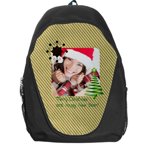 Xmas By Xmas   Backpack Bag   Re9e2govnz8u   Www Artscow Com Front