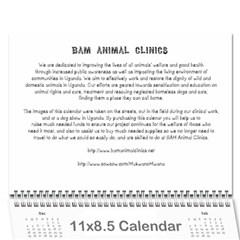 MM017 Wall Calendar 11 x 8.5 (12-Months)