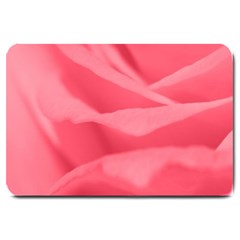 Pink Silk Effect  Large Door Mat by Colorfulart23