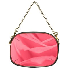 Pink Silk Effect  Chain Purse (one Side) by Colorfulart23