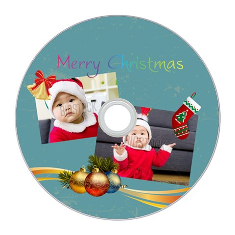 Merry Christmas By Xmas   Cd Wall Clock   Osd3t530cepq   Www Artscow Com Front